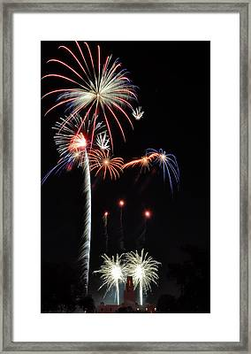 Framed Print featuring the photograph Patriotic Illumination by Kevin Munro