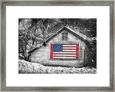 Patriotic American Shed Framed Print