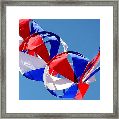 Patriotic Kite Framed Print by Art Block Collections