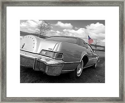 Patriotic Lincoln Continental 1976 Framed Print by Gill Billington