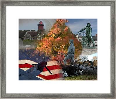 Patriotic Massachusetts Framed Print by Jeff Folger