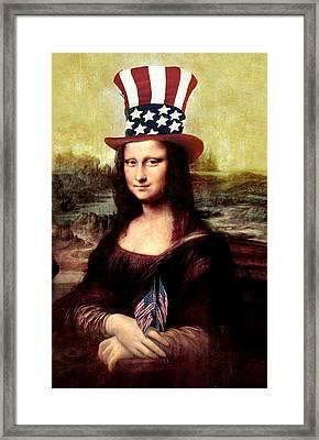 Patriotic Mona Lisa Framed Print