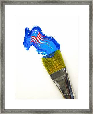 Patriotic Paint Framed Print
