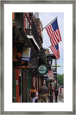 Patriotic Pat Obriens Framed Print