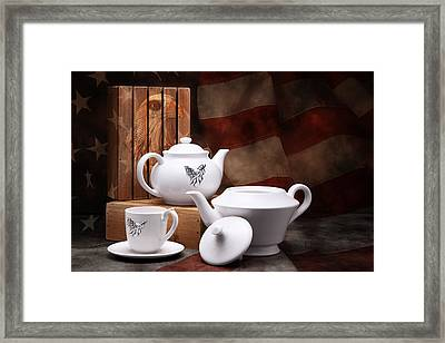 Patriotic Pottery Still Life Framed Print