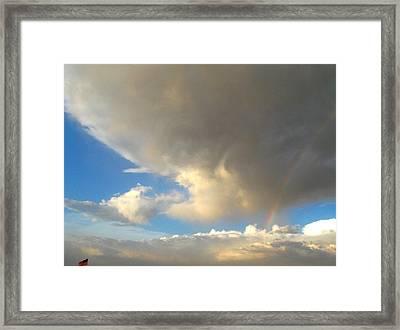 Patriotic Rainbow Clouds Framed Print