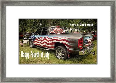 Patriotic Truck Framed Print by Dorothy Cunningham