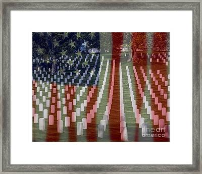 Patriotism Framed Print by Patti Whitten