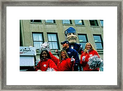 Patriots Super Bowl Parade Framed Print by Mike Martin