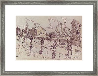 Patrol In Metz Framed Print