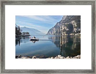 Patrol On The Lake  Framed Print