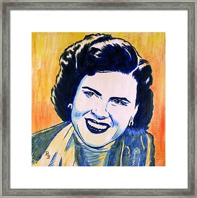 Patsy Cline Pop Art Painting Framed Print by Bob Baker
