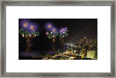 Pattaya Fire Work 2012 Festival Framed Print