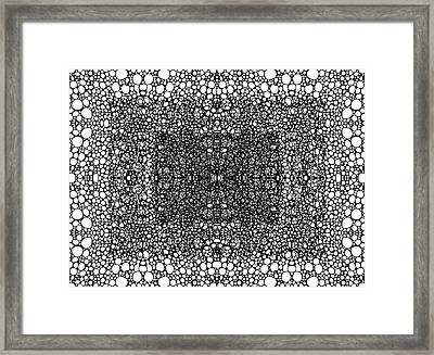 Pattern 33 - Intricate Exquisite Pattern Art Prints Framed Print by Sharon Cummings