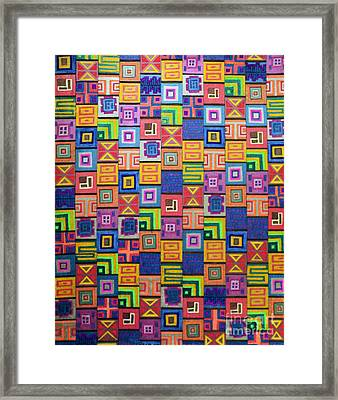 Framed Print featuring the drawing Pattern And Color Study by Megan Dirsa-DuBois