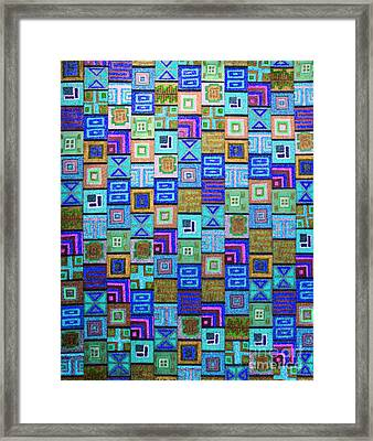 Framed Print featuring the drawing Pattern And Color Study2 by Megan Dirsa-DuBois