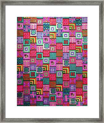 Framed Print featuring the drawing Pattern And Color Study3 by Megan Dirsa-DuBois