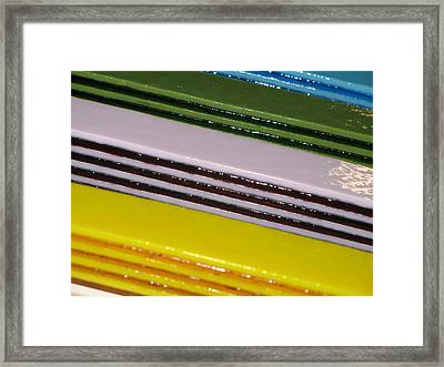 Pattern Bars Framed Print by Steven Schramek