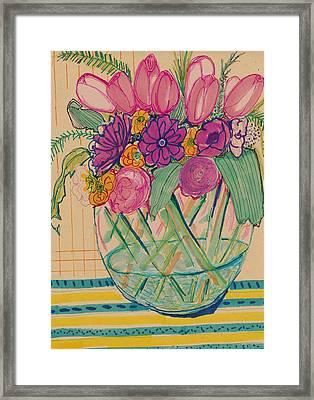 Pattern Flower Still Life Framed Print by Rosalina Bojadschijew