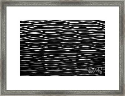 Pattern Of Waves Framed Print by Amy Cicconi