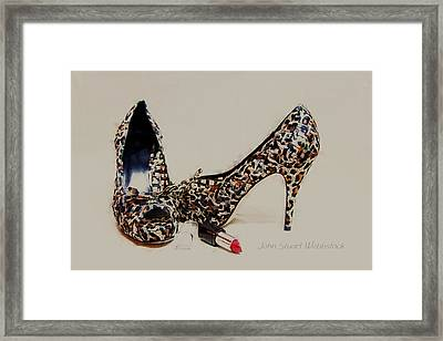 Patterned Heels Framed Print