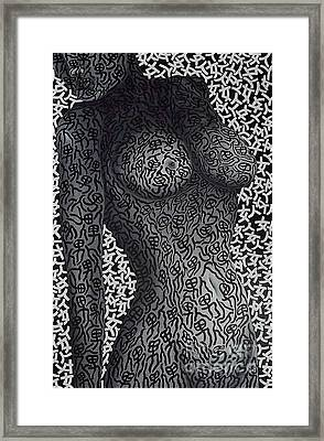 Patterned  Scent Framed Print by Fei A