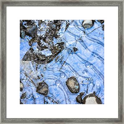 Patterns In Ice 3 Color  Framed Print