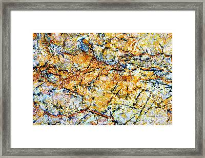 Patterns In Stone - 181 Framed Print