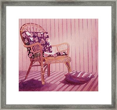 Framed Print featuring the painting Patterns In The Morning by John  Svenson