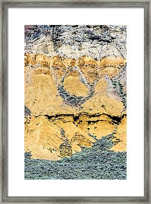 Patterns In The Rocks Framed Print by Michael Russell
