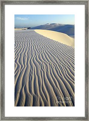 Patterns In The Sand Brazil Framed Print by Bob Christopher