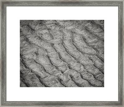 Patterns In The Sand Framed Print by Patricia Schaefer