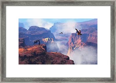 Patterns Of Grandeur Framed Print by Dieter Carlton