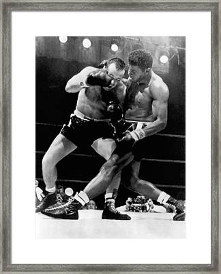 Patterson And Johansson Boxing Framed Print by Underwood Archives