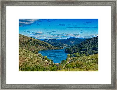 Patterson Lake In The Summer Framed Print by Omaste Witkowski