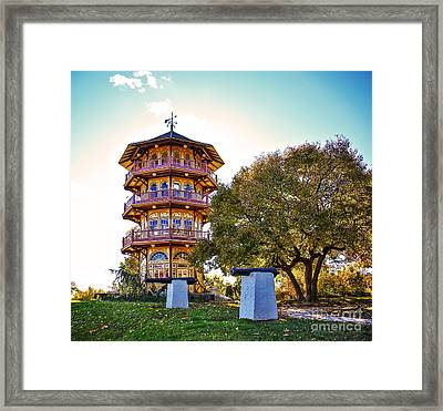 Patterson Park Pagoda Aglow  Framed Print by SCB Captures