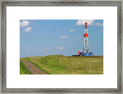 Patterson Uti Oil Drilling Rig Framed Print