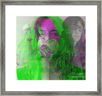 Patti Smith Dancing Barefoot Framed Print