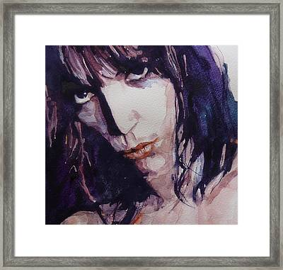 Patti Smith Framed Print by Paul Lovering