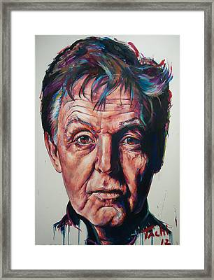 Paul - 2 Framed Print by Tachi Pintor