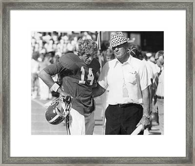 Paul Bear Bryant - Alabama Football Framed Print by Retro Images Archive