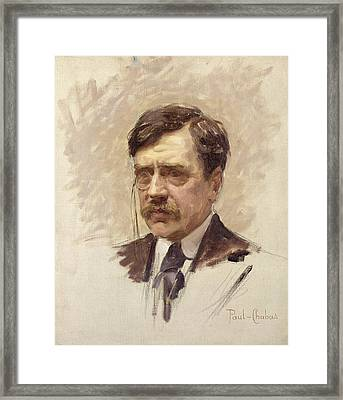 Paul Bourget  Framed Print by Paul Chabas