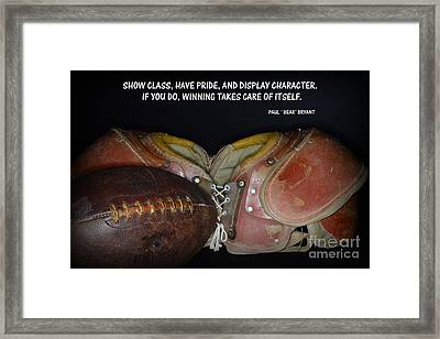Paul Bryant On Football Framed Print
