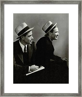Paul 'daffy' Dean And James H. 'dizzy' Dean Framed Print by Lusha Nelson
