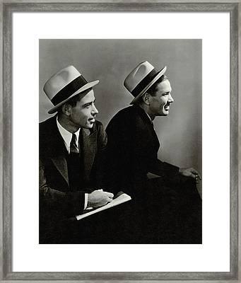 Paul 'daffy' Dean And James H. 'dizzy' Dean Framed Print by Lusha Nelson