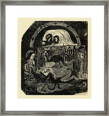 Paul Gauguin French, 1848 - 1903, Te Atua The Gods Small Framed Print by Quint Lox