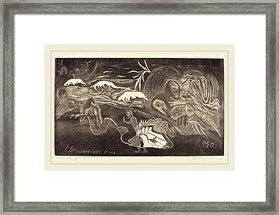 Paul Gauguin French, 1848-1903, The Universe Is Created Framed Print by Litz Collection