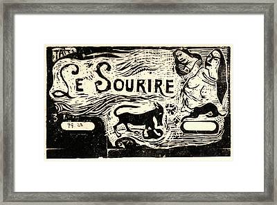"Paul Gauguin French, 1848 - 1903. Titre Pour ""le Framed Print by Litz Collection"