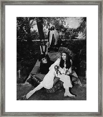 Paul Getty Jr With His Wife Talitha Framed Print by Patrick Lichfield