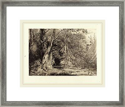 Paul Huet French, 1803-1869, Flooding In The Forest Framed Print
